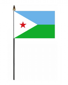 Djibouti Country Hand Flag - Small.